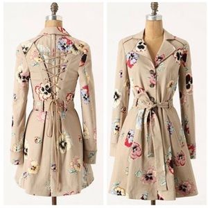 Anthropologie Corset Pansy Trench